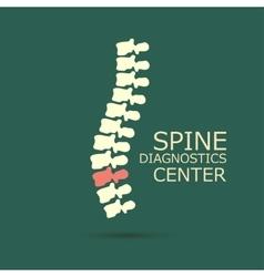 Spine diagnostics center vector