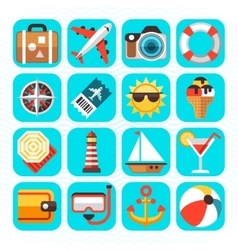 Summer beach travel vacation and tourism vector image