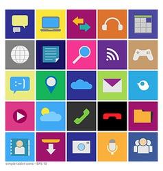 tablet set vector image