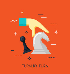 turn turn flat concept vector image
