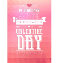 Valentine triangle background Disco poster vector image vector image