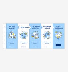 value chain components onboarding template vector image
