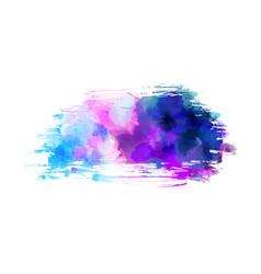 watercolor imitation grunge brushed background vector image