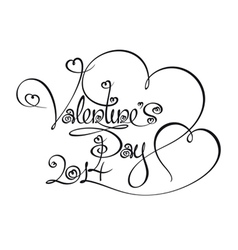 Caligraphic Text Valentines Day 2014 vector image