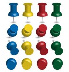 color pushpins vector image vector image
