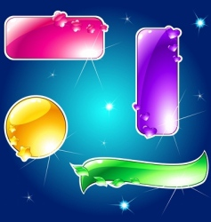 glossy banner vector image vector image