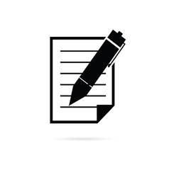 paper with pen vector image
