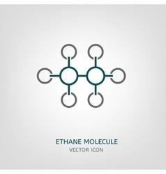 Ethane molecule icon vector