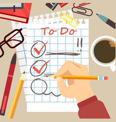 flat organize concept - to do list vector image vector image