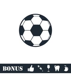 Soccer ball icon flat vector
