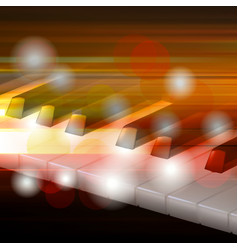 abstract grunge music background with piano vector image