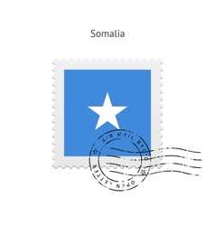 Somalia flag postage stamp vector