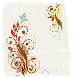 Floral grunge abstract background vector image vector image