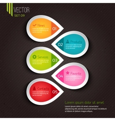 Infographic design for businesses vector image vector image