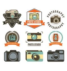 Set of photo studio labels vector image vector image