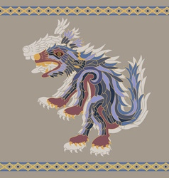 traditional aztec koyote vector image