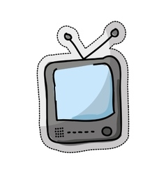 tv retro drawing isolated icon vector image