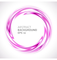 Abstract purple and pink swirl circle bright vector