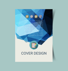 abstract report cover 1 vector image