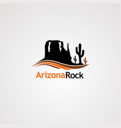 Arizona rock logo icon element and template for vector