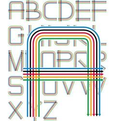arrows font vector image