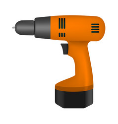 Battery drill mockup realistic style vector