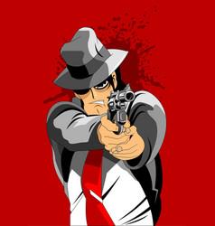 black hat killer vector image