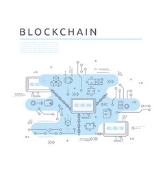 Blockchain technologie process abstract vector