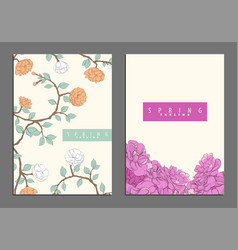 bright floral cover template vector image