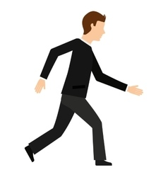 Businessman walking isolated icon design vector
