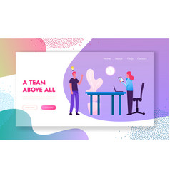businesspeople team project ideas development vector image