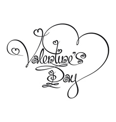 Caligraphic Text Valentines Day vector