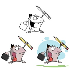 Cartoon creature running vector
