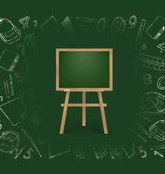 Children chalk board vector