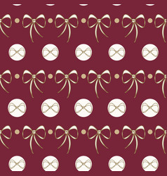 christmas lace bows vector image