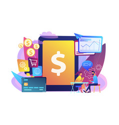 Core banking it system concept vector
