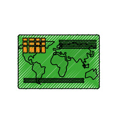 Credit card isolated vector