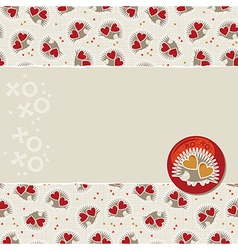 Cute valentine cards vector image