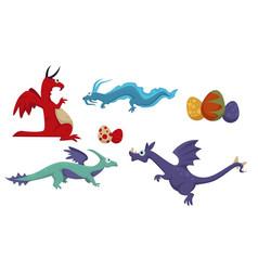 dinosaur dino difference prehistoric animals set vector image