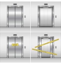 elevator set vector image