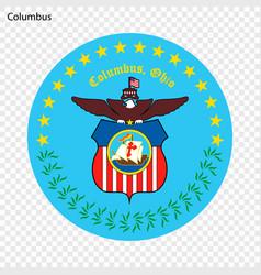 emblem columbus vector image
