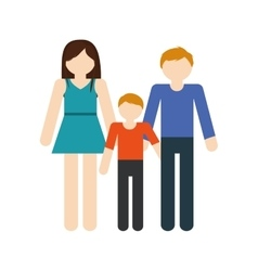 Family mom dad and son together members vector