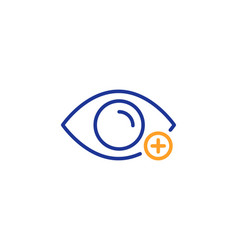 Farsightedness line icon eye diopter sign vector