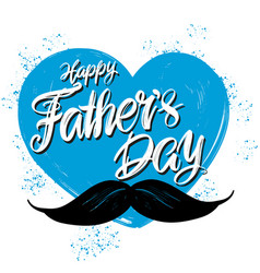 fathers day family celebration calligraphic text vector image