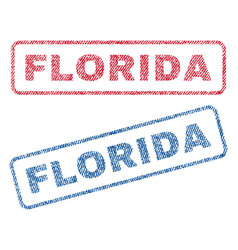 florida textile stamps vector image