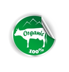 fresh natural milk logo graphic vector image