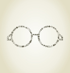 Glasses science vector image