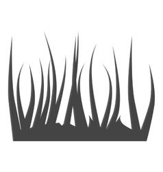 Grass icon gray monochrome style vector image