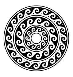 greek mandala ancient round meander art vector image