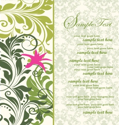 green bridal shower invitation vector image